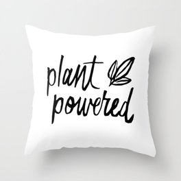 Plant Powered Throw Pillow