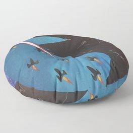 space dino Floor Pillow