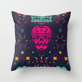 LOS MUERTITOS V01 Throw Pillow
