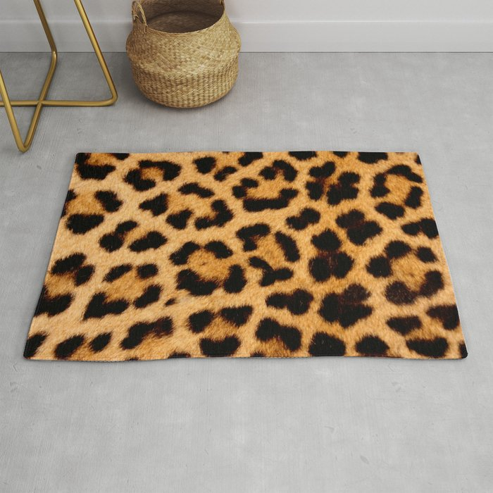 Leopard Skin Pattern Rug By Farfalina