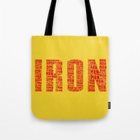 ironman Tote Bags featuring IRONman  by Kramcox