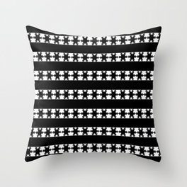 Festive Winter Snow flakes Throw Pillow