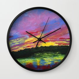 Color Me Crazy Wall Clock