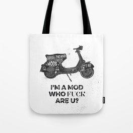 Vespa, mods, calligraphy, graphic Tote Bag