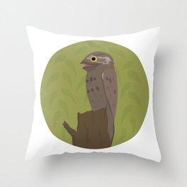 Potoo Throw Pillow