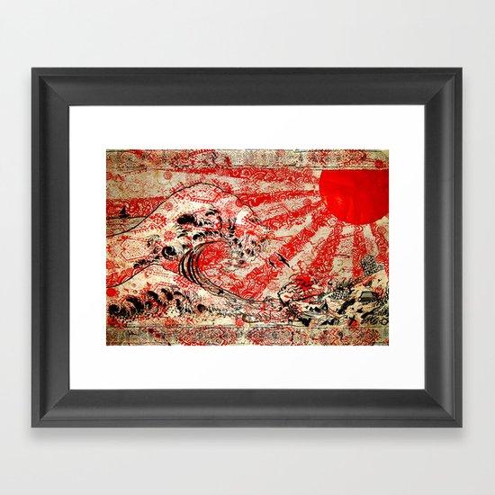 For Japan. Framed Art Print