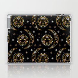Celestial pattern in tribal style and ethnic motif Laptop & iPad Skin