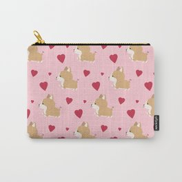 Corgi love - Pink Carry-All Pouch