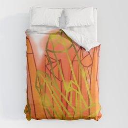Crystals - Orange Duvet Cover