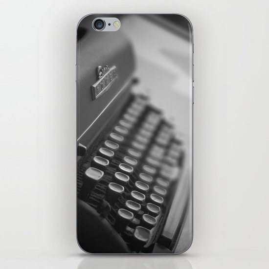 Black and White Typewriter  iPhone & iPod Skin