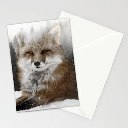 Fox Stare Stationery Cards