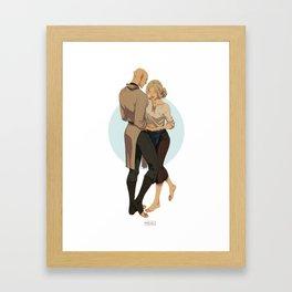 Ballroom dance Framed Art Print