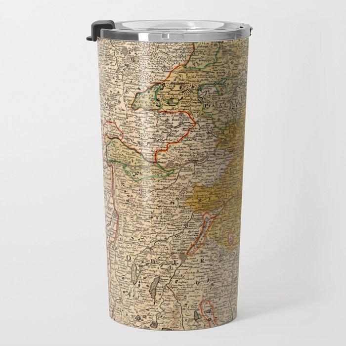 Map Of Bavaria 1724 Travel Mug