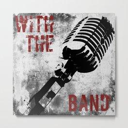 Rock n' Roll Microphone Metal Print