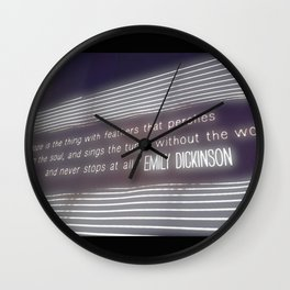 Written on the Wall Wall Clock