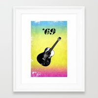 woodstock Framed Art Prints featuring Woodstock by Nicko-Suave Art