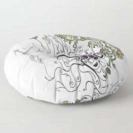 Flowers Figure Floor Pillow