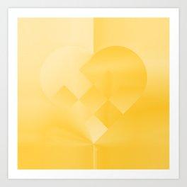 Danish Heart Gold #181 Happy Holidays! Art Print