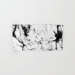 Marble Concrete Stone Texture Pattern Effect Dark Grain Hand & Bath Towel