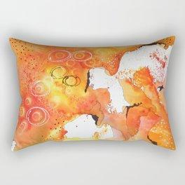 Orange Map Abstract Rectangular Pillow