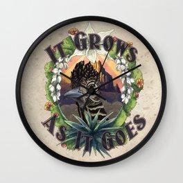 It Grows As It Goes Wall Clock
