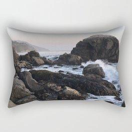 Crashing Waves at Dusk on a Big Sur Beach Rectangular Pillow