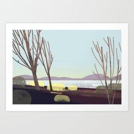 oregon in winter Art Print