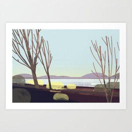 oregon in winter Art Print