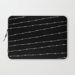 Cool black and white barbed wire pattern Laptop Sleeve