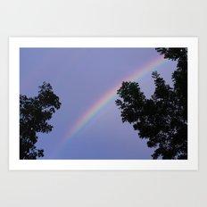 purple rain. Art Print