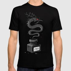 Ink Dragon LARGE Mens Fitted Tee Black