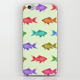 Vintage Fish Pattern iPhone Skin