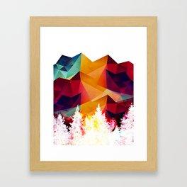 Forest made of color Framed Art Print
