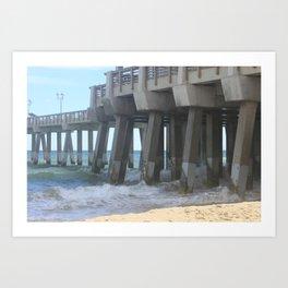 High Tide Pier Art Print