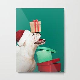 Doggy Christmas Art Print Metal Print