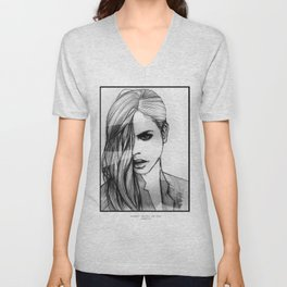 BARBARA PALVIN: THE FACE Unisex V-Neck