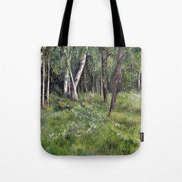 Woodland Forest Landscape Nature Art Tote Bag