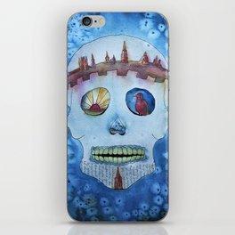 SugarSkull - watercolor iPhone Skin