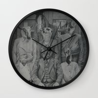 politics Wall Clocks featuring Office Politics by LeeBoydArtist