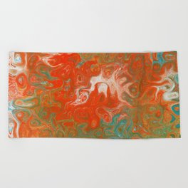 As Luck Would Have It, Abstract Art Beach Towel