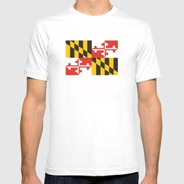 maryland state state flag united states of america country T-shirt