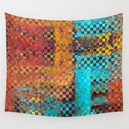 Abstract Modern Art - Pieces 1 - Sharon Cummings Wall Tapestry