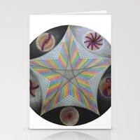 pentagram Stationery Cards featuring Galactic Pentagram (ANALOG zine) by johngerGEOs