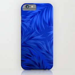 Palm Tree Fronds Brilliant Blue on Blue Hawaii Tropical Décor iPhone Case