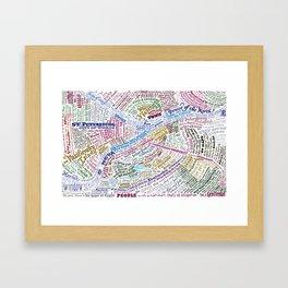 St. Petersburg Literary Map Framed Art Print