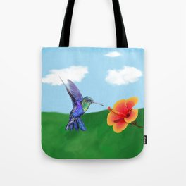 The very hungry hummingbird Tote Bag