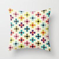 daisies Throw Pillows featuring Daisies by Michelle Nilson