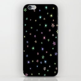 Colored Sparkling Stars iPhone Skin