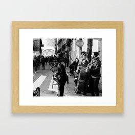 Spain Street Sax Framed Art Print