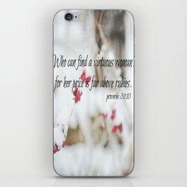 Proverbs 31 Virtuous Woman iPhone Skin